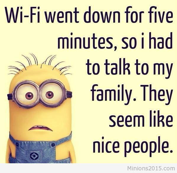 the wifi went down