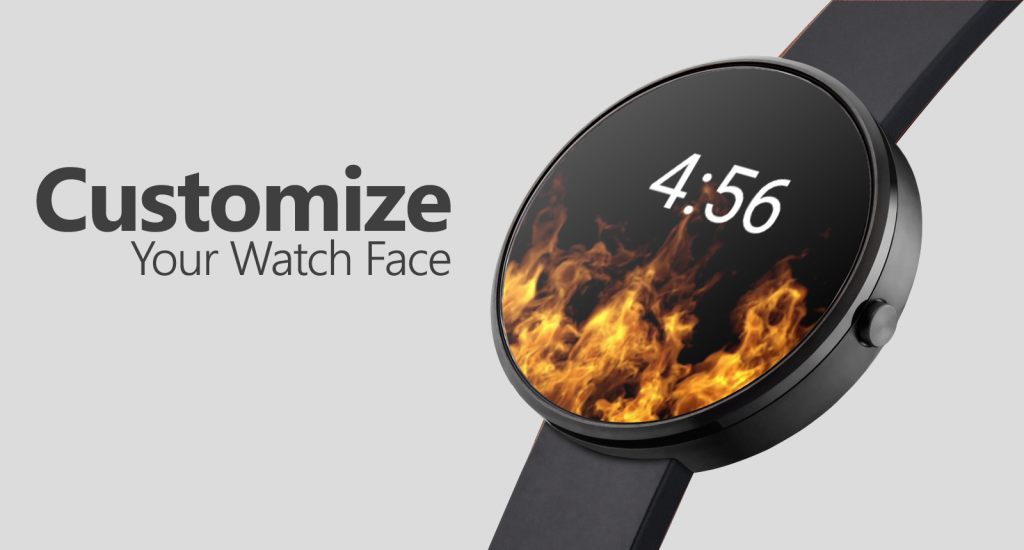 Animated Flames Watch Face